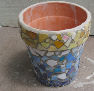 mosaic tile flower pot