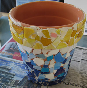 mosaic tile mortar used for a mosaic project
